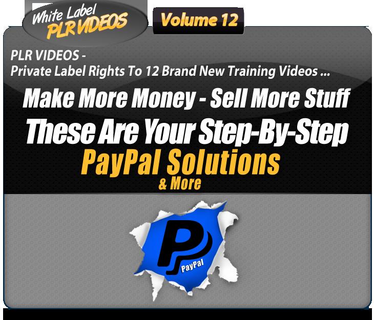 White Label PLR Video Volume 12 Header Image