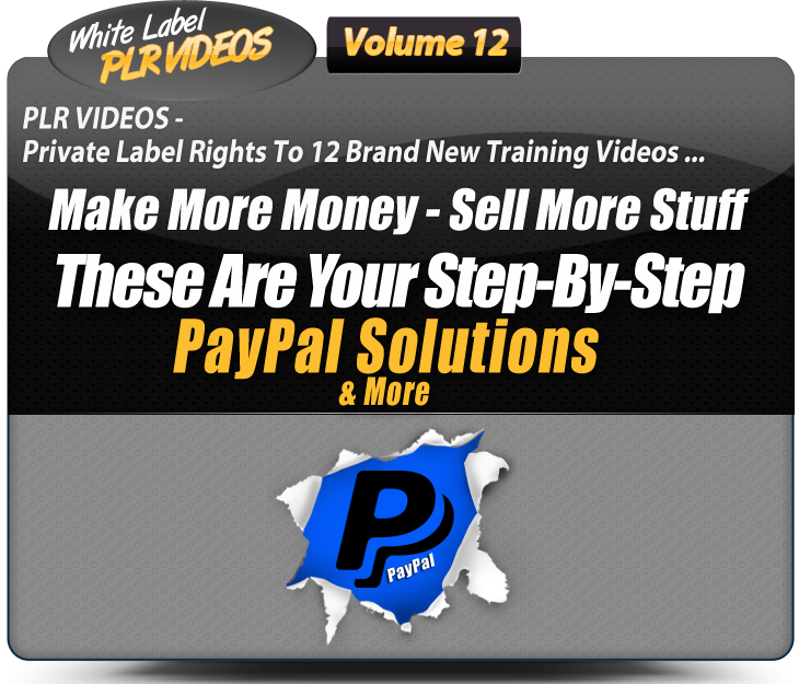 White Label PLR Video Volume 12 Header Image